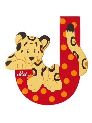 Sevi Letter - J - Hout - Sevi