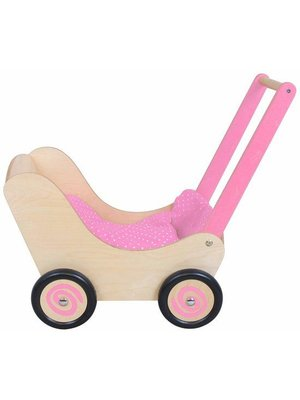 Simply for kids Simply for Kids - Poppenwagen - Naturel/roze