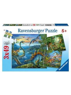 Ravensburger Ravensburger - Puzzel - Dinosauriërs - 3x49st.
