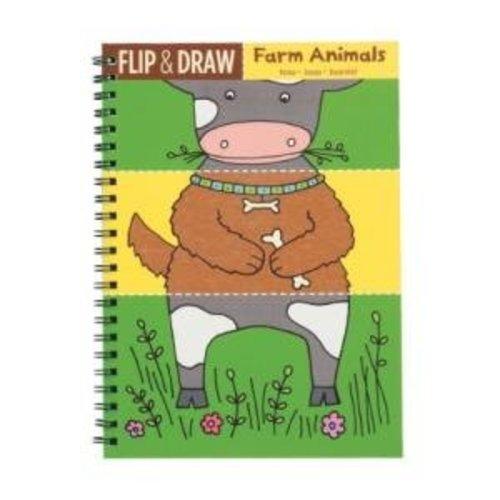 Mudpuppy - Flip & draw - Eerste tekenboek - Boerderijdieren
