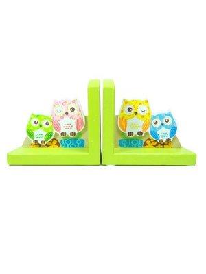 Simply for kids Boekensteun - Uilen - Groen