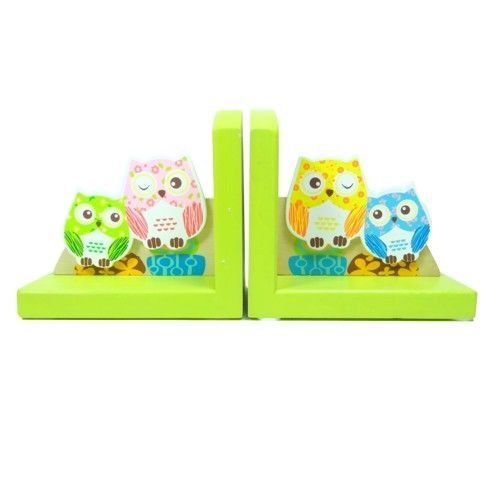 Simply for kids Simply for Kids - Boekensteun - Uilen - Groen