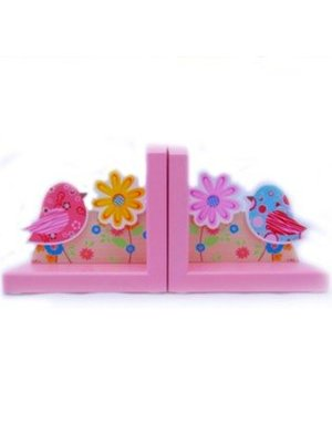 Simply for kids Boekensteun - Vogels - Roze