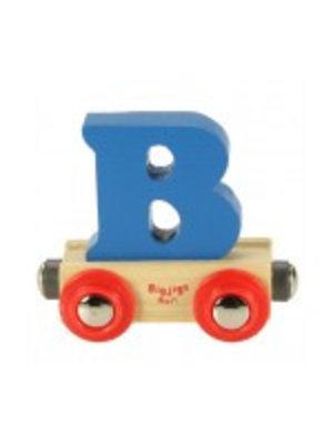 BigJigs Bigjigs - Rails - Naamtrein - Letter B - Kleur willekeurig geleverd