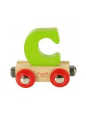 BigJigs Bigjigs - Rails - Naamtrein - Letter C - Kleur willekeurig geleverd