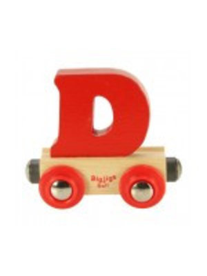 BigJigs Bigjigs - Rails - Naamtrein - Letter D - Kleur willekeurig geleverd