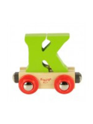 BigJigs Bigjigs - Rails - Naamtrein - Letter K - Kleur willekeurig geleverd