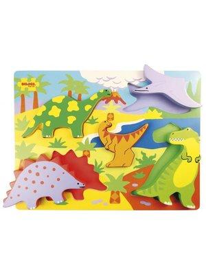 BigJigs Puzzel - Dinosaurussen - 5st.