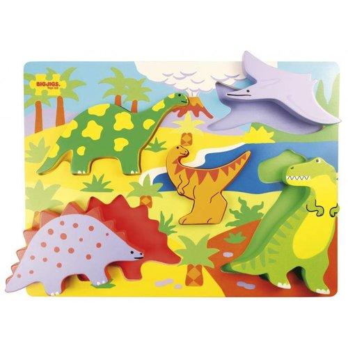 BigJigs Bigjigs - Puzzel - Dinosaurussen - 5st.