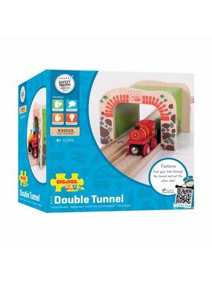BigJigs Bigjigs - Rails - Dubbele tunnel