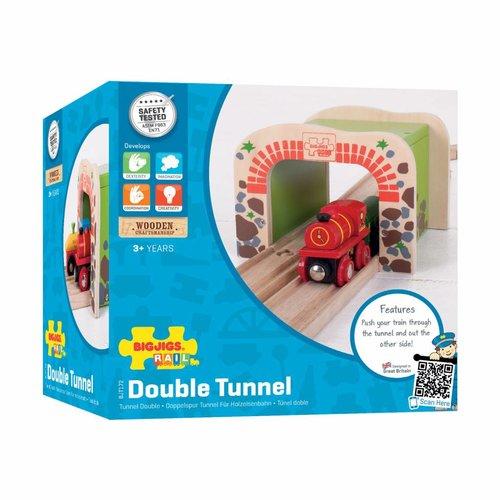 BigJigs Rails - Dubbele tunnel