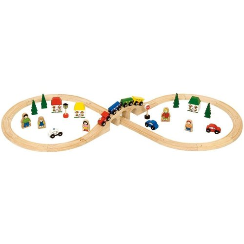 BigJigs Bigjigs - Rails - Treinset - In 8-vorm