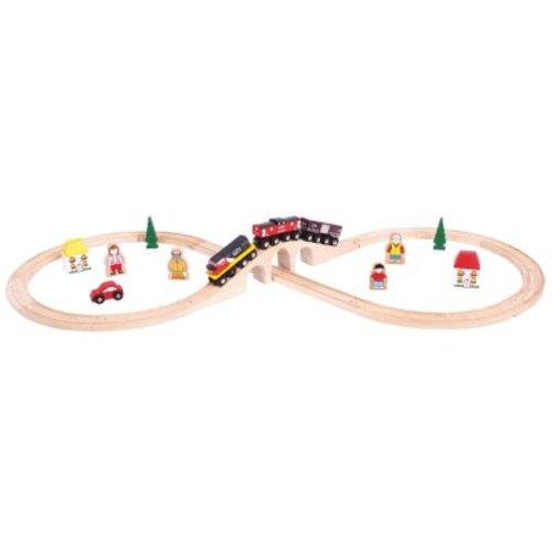 BigJigs Bigjigs - Rails - Treinset - Canada - In 8 vorm - 30dlg.