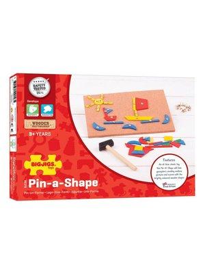 BigJigs Hamertje tik - Pin-a-shape