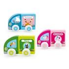 Scratch Scratch - Kleine auto's - Magnetisch - Roze/blauw/groen