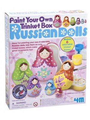 4M - Knutselen - Maak je eigen Russische poppen - Matroesjka opbergdoosjes