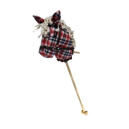 Angeltoys - Stokpaard - Schotse ruit - Met geluid