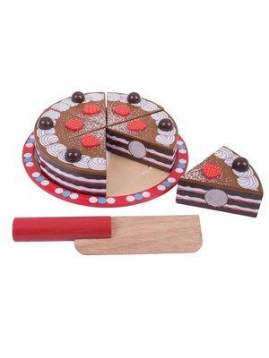 BigJigs Speelgoedeten - Chocoladetaart