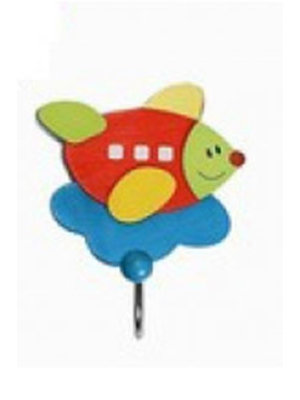 Simply for kids Simply for Kids - Kapstokhaakje - Vliegtuig