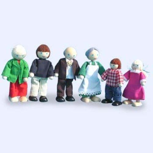1234feest Dudu Toys - Poppenhuispoppetjes - Familie Jansen*