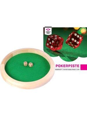 Longfield - Pokerpiste - Hout - Incl. 2 dobbelstenen