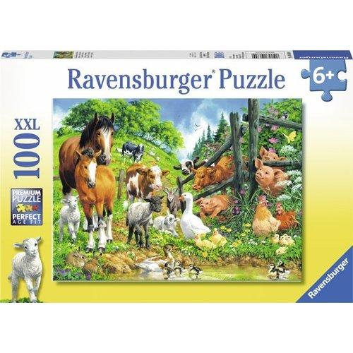 Ravensburger Ravensburger - Puzzel - Dierenbijeenkomst XXL - 100st.