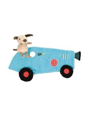 Egmont Knuffellapje - Kiekeboe - Hond met raceauto