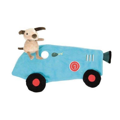 Egmont Egmont Toys - Knuffellapje - Kiekeboe - Hond met raceauto