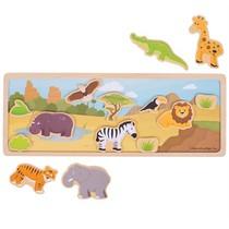 Bigjigs - Verhalenbord - Magnetisch - Safari - 14dlg.