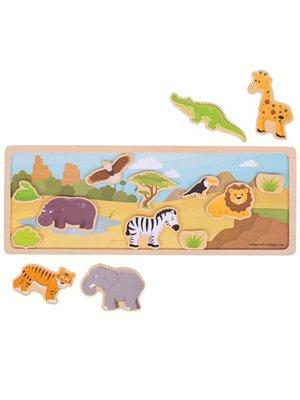 BigJigs Bigjigs - Verhalenbord - Magnetisch - Safari - 14dlg.