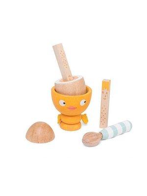 Le Toy Van Speelgoedeten - Gekookt ei set - 6dlg.