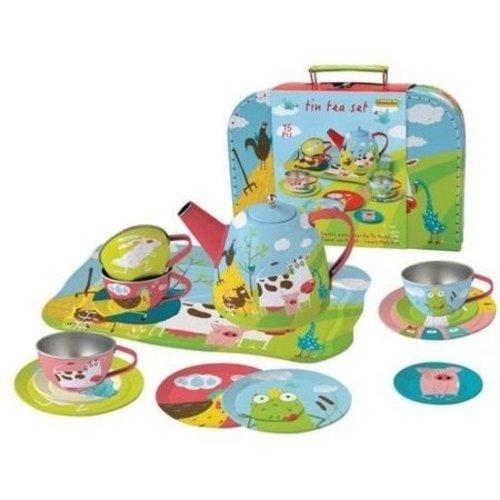 Simply for kids Theeservies - Boerderij - Metaal - In koffer