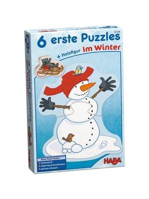 Haba Haba - Puzzel - Mijn eerste puzzels - In de winter - 2/2/3/3/4/4st.*