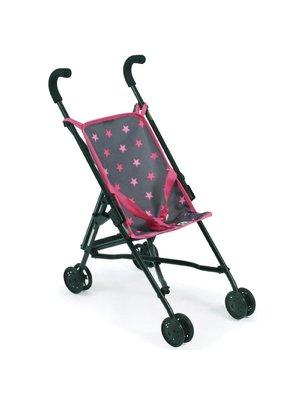 Bayer Chic - Poppenbuggy - Grijs - Roze ster