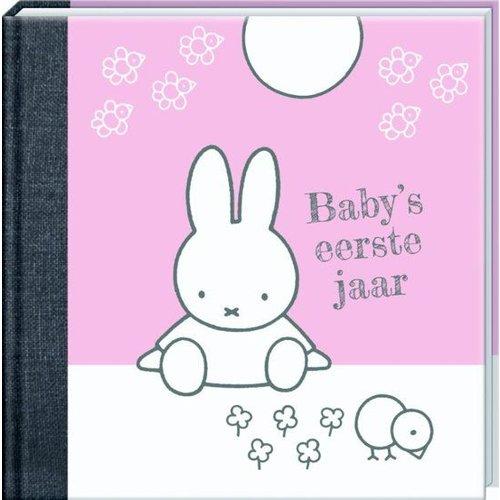 Interstat Boek - Baby's eerste jaar - Nijntje - Roze