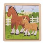 BigJigs Bigjigs - Puzzel - Paarden & veulen - Hout - 16st.