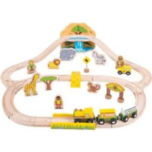 BigJigs Bigjigs - Rails - Treinset - Safari - 23dlg.