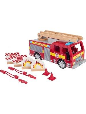 Tidlo Tidlo - Auto - Brandweerwagen - Hout - Met toebehoren