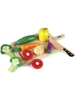 Tidlo Speelgoedeten - Snijset - Groente - Hout