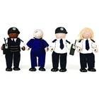 Tidlo - Poppenhuispoppetjes - Politie met boef - Hout