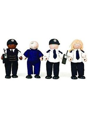 Tidlo Poppenhuispoppetjes - Politie met boef - Hout