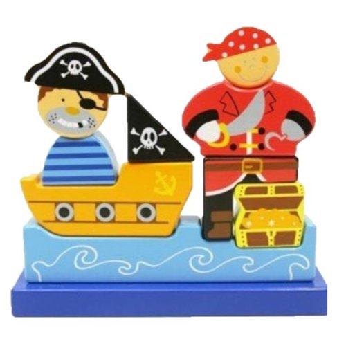 Simply for kids Simply for Kids - Magnetische puzzel - Piraat - 9st.