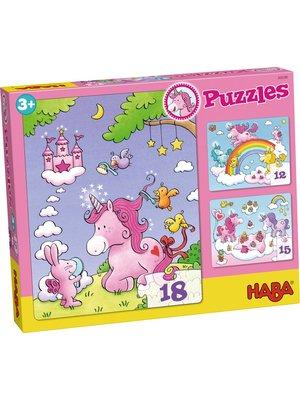 Haba Haba - Puzzels - Eenhoorn Flonkerglans - 12/15/18st.