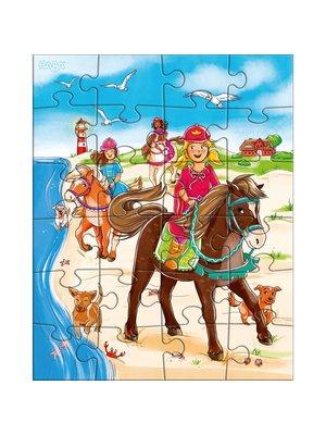 Haba Haba - Puzzel - Paardenvriendinnen - 3x24st.