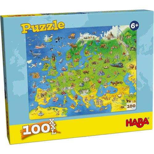 Haba Haba - Puzzel - Landen van Europa - 100st. - XXL