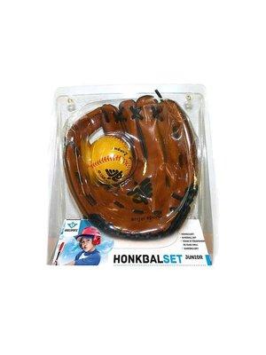 Engelhart Honkbalset - Kunstleder handschoen & PVC bal - 9 Inch