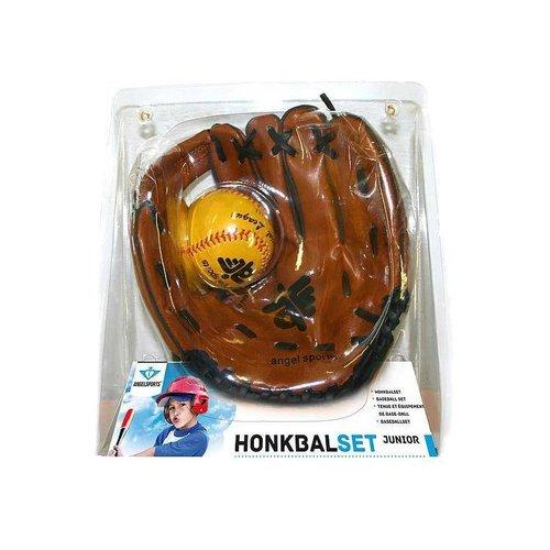 Engelhart Angel Sports - Honkbalset - Kunstleder handschoen & PVC bal - 9 Inch