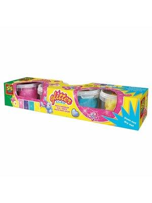 SES - Klei - Speeldeeg - 4x90gr. - Zachte kleuren met glitter