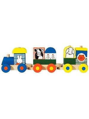 Bambolino Toys Trein met blokken - Nijntje
