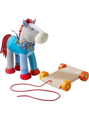 Haba Haba - Paard - Kakelbont - Met roplank om vooruit te trekken